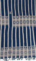African Baule Ceremonial Indigo Wrap Cloth