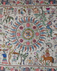 Early Silk Kantha by Sreelata Sarkar   SOLD