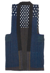 Japanese Indigo Kasuri Farmer's Vest