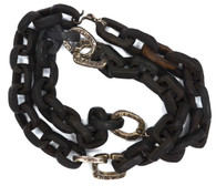 Lou Zeldis Ebony Carved Chain w/Silver Necklace SOLD