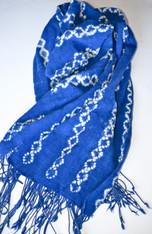 African Indigo Tie-Dye Shawl SOLD