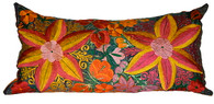 "Mexican Embroidery Pillow 35"" x 18"" SOLD"