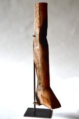 Antique Ex-Voto Wood Milagro Leg from Brazilian Church Shrine