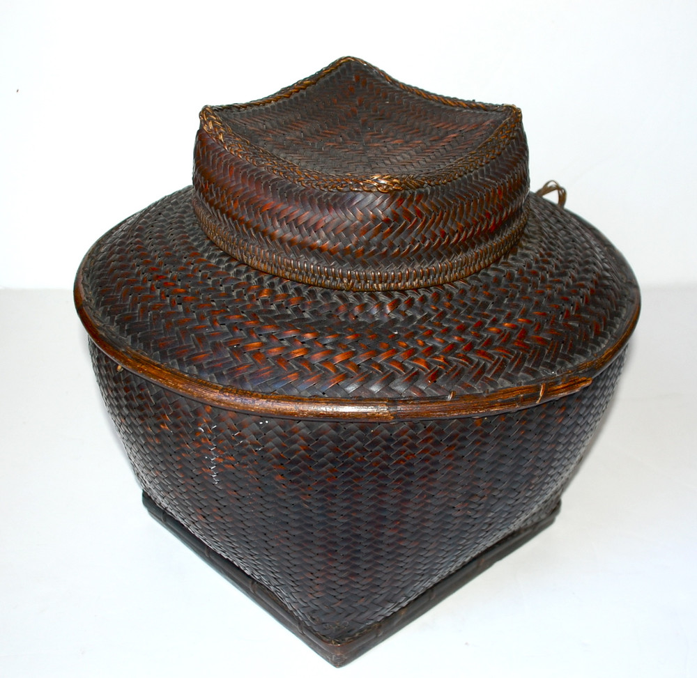 18266516 Antique Philippine Ifugao Storage Basket SOLD - Hot Moon Collection