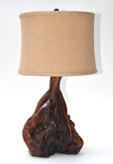 1950s Burl Wood Table Lamp