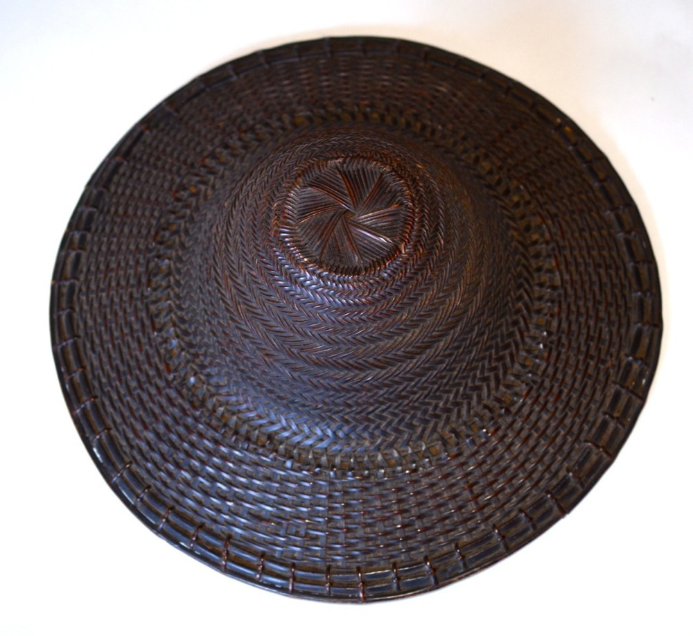 2a24147f Ifugao Philippine Bamboo Hat 19th C. Price: $895.00. Image 1. Larger / More  Photos