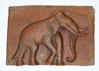 Antique Indian Elephant Relief Panel