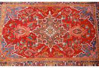 "Persian Heriz Rug 10'9"" x 7'3"" SOLD"