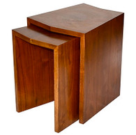 Mid Century Solid Walnut Nesting Tables SOLD