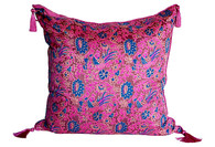 Indian Silk Block-Print Pillow