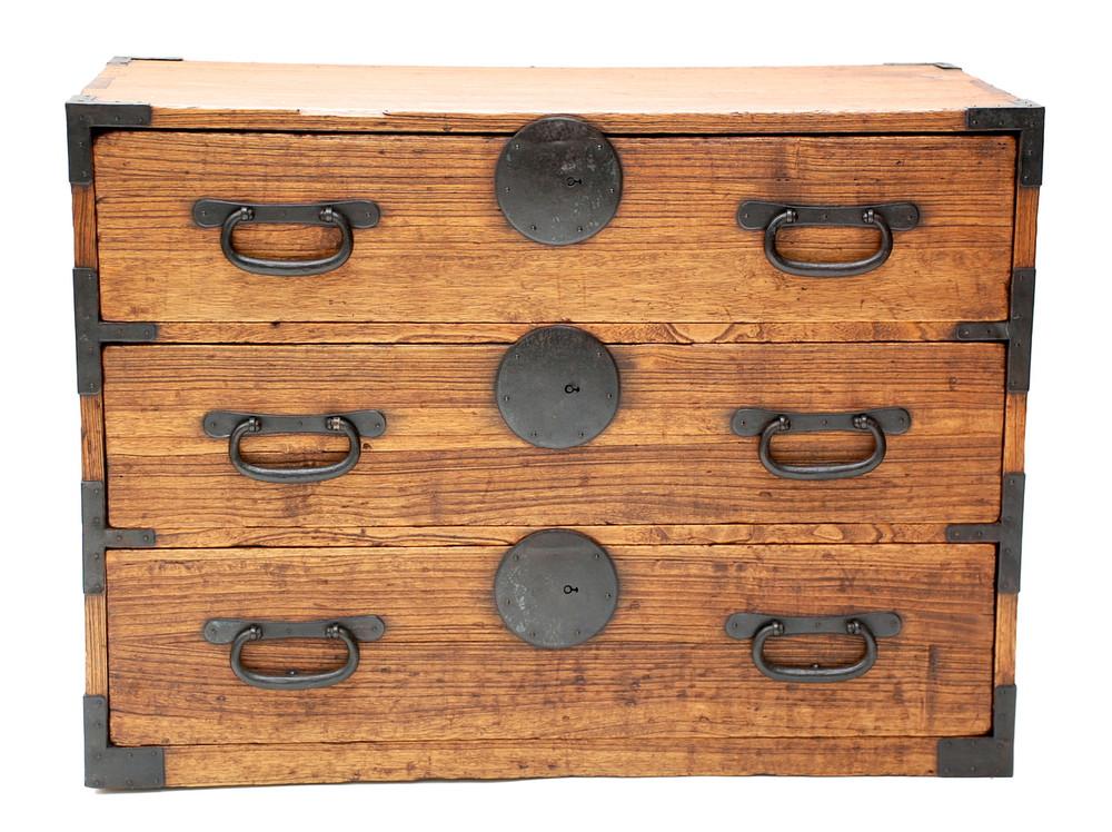 Image 1 - Antique Japanese Tansu Cabinet, Meiji Period