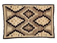 Antique Navajo Rug - 2′10″ × 4′6″