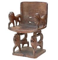 African Benin Wood Chair SOLD