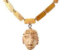 Doña Mexico Stone Head Necklace