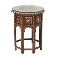 Anglo-Indian Folding Inlaid Octagonal Side Table SOLD