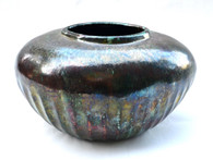 Tony Evans Large Raku Ceramic Pot SOLD