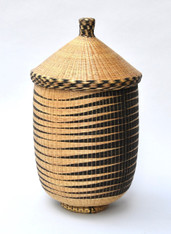 Large Lidded Tutsi Basket SOLD