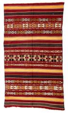 Vintage Zemmour North African Berber Kilim