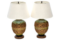 Italian Table Lamps, Pair SOLD