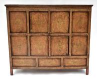 Magnificent Antique Tibetan Elm Wood Lacquered Cabinet SOLD