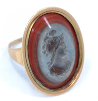 Antique Agate Intaglio Ring