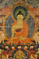 18th Century Magnificent Thangka Depicting Shakyamuni Buddha SOLD