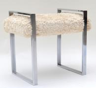 Charles Hollis Jones Boxline Chromed Steel Bench