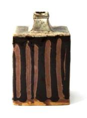 Shoji Hamada Ceramic Square Bottle, Japan