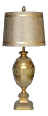 Hollywood Regency Gold Metal Egg Lamp