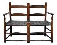 Antique American Hickory Primitive Settee