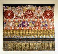 1920s Hungarian Matyo Silk Hand Embroidery