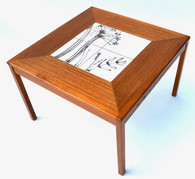 Danish Mid Century Teak Tile Table by Mobelfabrikken Toften