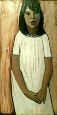 Hubertus Johannes Mengels Oil on Canvas Portrait Painting 1960s