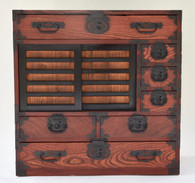 Antique Japanese Hardwood Choba Tansu