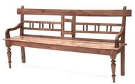 Antique Colonial Teak Bench