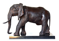 Magnificent Bronze Elephant Sculpture