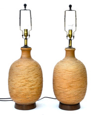 Bob Kinzie Ceramic Large Table Lamp Pair