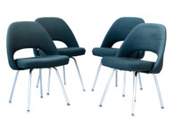 1960s Saarinen for Knoll Executive Armless Set of Four Chairs