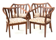 1960s John Keal Walnut Chairs for Brown Saltman