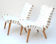 1950s Jens Risom for Knoll Lounge Chair Pair