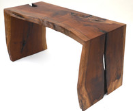 1980s Live Edge Waterfall Console Table SOLD
