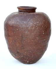 Japanese Large Stoneware Shigaraki Jar Edo Period