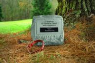 Memorial Urn w/ Marble Rectangle Insert