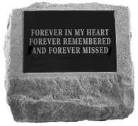 Memorial Headstone w/ Urn Cast In Bottom