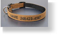 Personalized Work'n Dog Canvas Collar