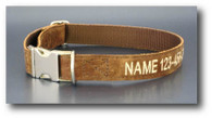 Personalized Distressed Leather Collar