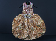 All That Glitters Pink and Gold Sequined Party Dress