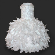Cinderella Princess White Glamour Dog Wedding Dress