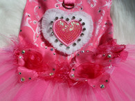 Love Hot Pink Swarovski Rose Tutu Dress