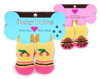 Cherry Print Non-Skid Dog Socks